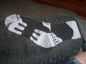 ~Just a close-up pic to shoe the details in the style of the socks & you can get a good look at the ribbing support~